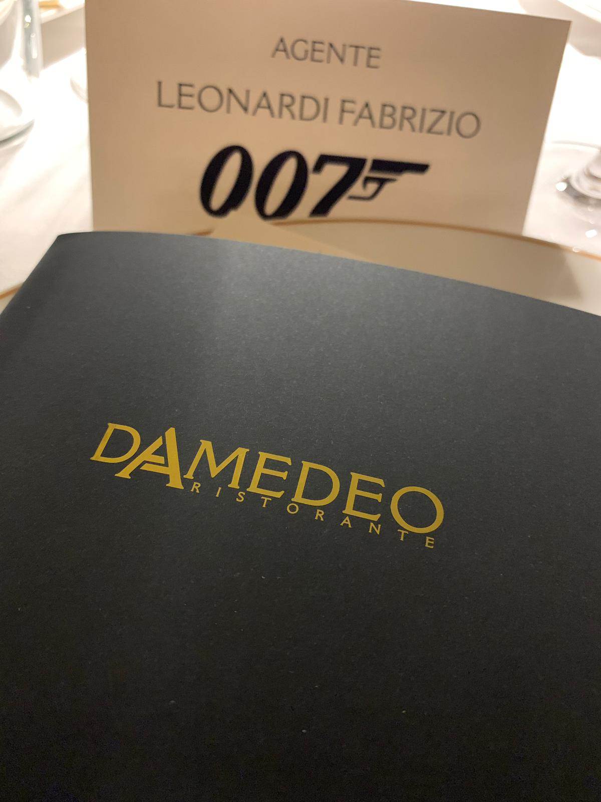 James Bond Damedeo - Menù