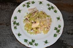 Insalatina di funghi e sedanocon scaglie di Parmigiano Reggiano