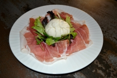 Prosciutto crudo di Parma con burratina